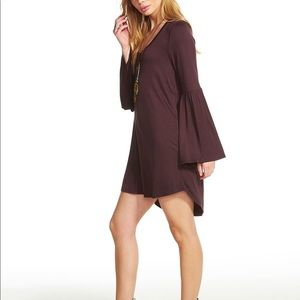 NWT Chaser Jersey Flared Sleeve Hi-Lo dress S